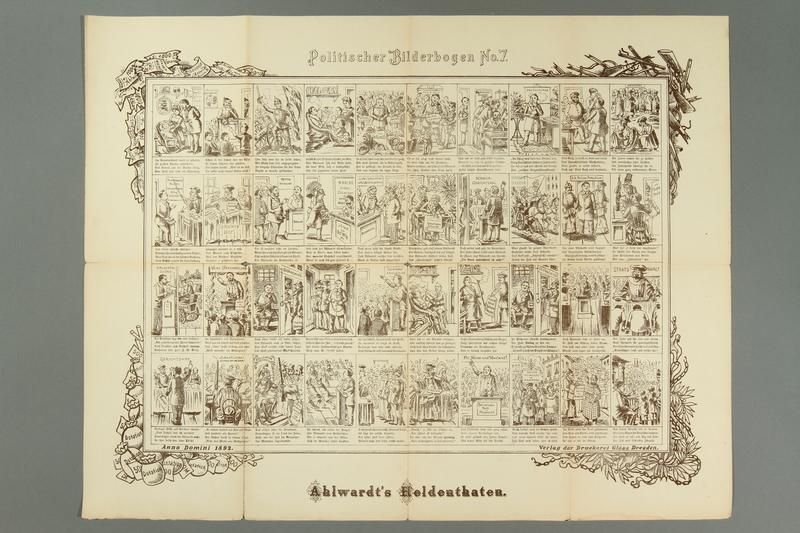 2016.184.716.7 front 19 posters from the series Politischer Bilderbogen