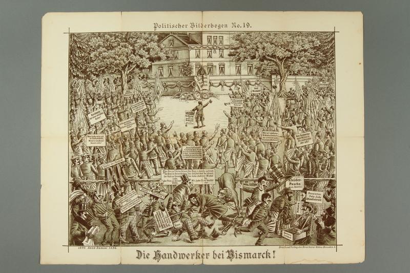 2016.184.716.19 front 19 posters from the series Politischer Bilderbogen
