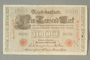 Imperial Germany, 1000 Reichsbanknote, brought with a German Jewish refugee