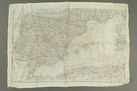 2017.245.2 side A Cloth map used by a Dutch Resistance member  Click to enlarge
