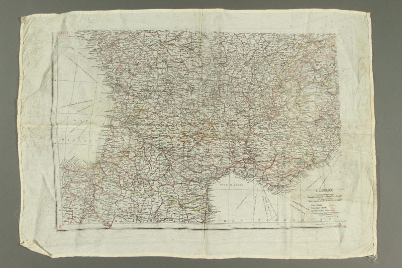 2017.245.2 side B Cloth map used by a Dutch Resistance member