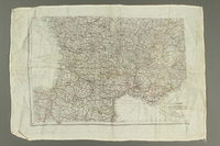 2017.245.2 side B Cloth map used by a Dutch Resistance member  Click to enlarge