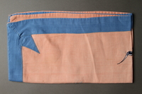 2014.490.11 side b Embroidered pink tablecloth with a nautical design owned by a Romanian Jewish woman  Click to enlarge