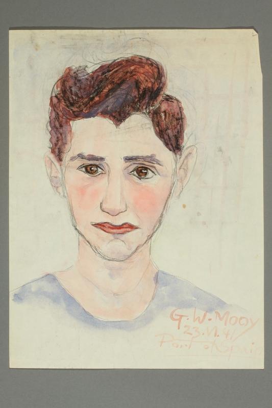 2016.500.2 front Portrait of a German Jewish refugee