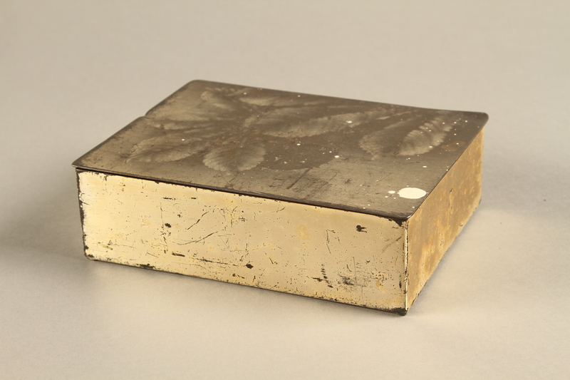 2017.179.4 3/4 view Box with embossed foliage given to US internee camp commander by German prisoner