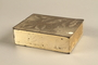 Box with embossed foliage given to US internee camp commander by German prisoner