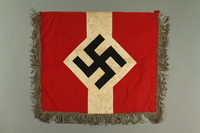 2017.179.6 side A Metallic fringed Nazi flag given to US internee camp commander by German prisoner  Click to enlarge