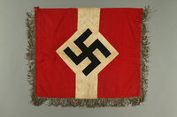 2017.179.6 side B Metallic fringed Nazi flag given to US internee camp commander by German prisoner  Click to enlarge