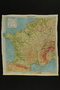 Silk escape map of France owned by a US soldier