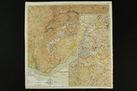 2012.427.6 back Two-sided silk escape map of Western Europe owned by US soldier and liberator  Click to enlarge