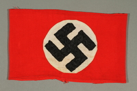 2012.427.7 front Red armband with swastika acquired by American soldier and liberator  Click to enlarge