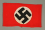Red armband with swastika acquired by American soldier and liberator