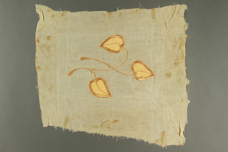 2017.209.1 back Embroidered curtain remnant from a Jewish Polish home