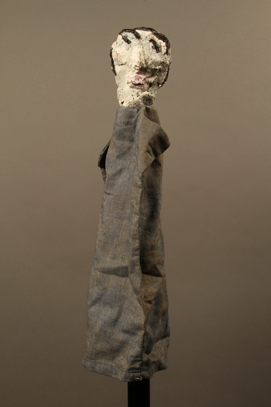 2017.213.4 front Pale faced hand puppet created by a German Jewish Holocaust survivor and World War II veteran