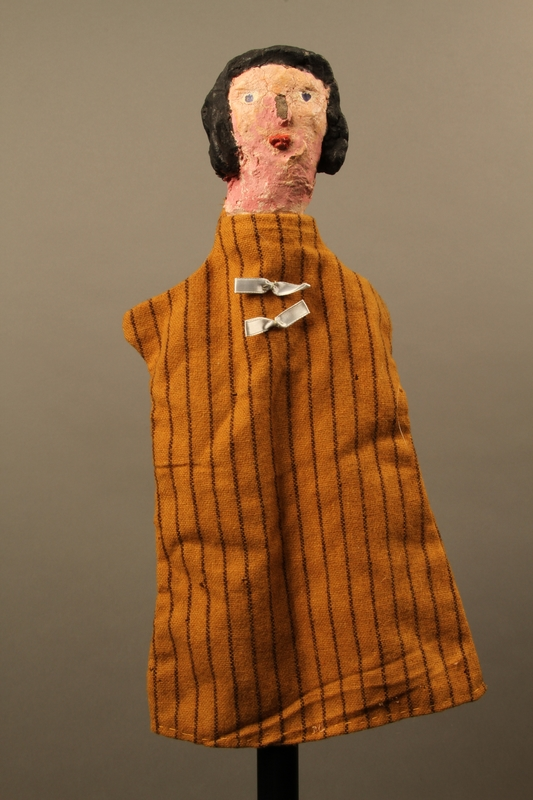 2017.213.8 front Hand puppet of a woman created by a German Jewish Holocaust survivor and World War II veteran