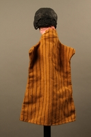 2017.213.8 back Hand puppet of a woman created by a German Jewish Holocaust survivor and World War II veteran  Click to enlarge