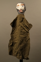 2017.213.10 front Bearded man hand puppet created by a German Jewish Holocaust survivor and World War II veteran  Click to enlarge