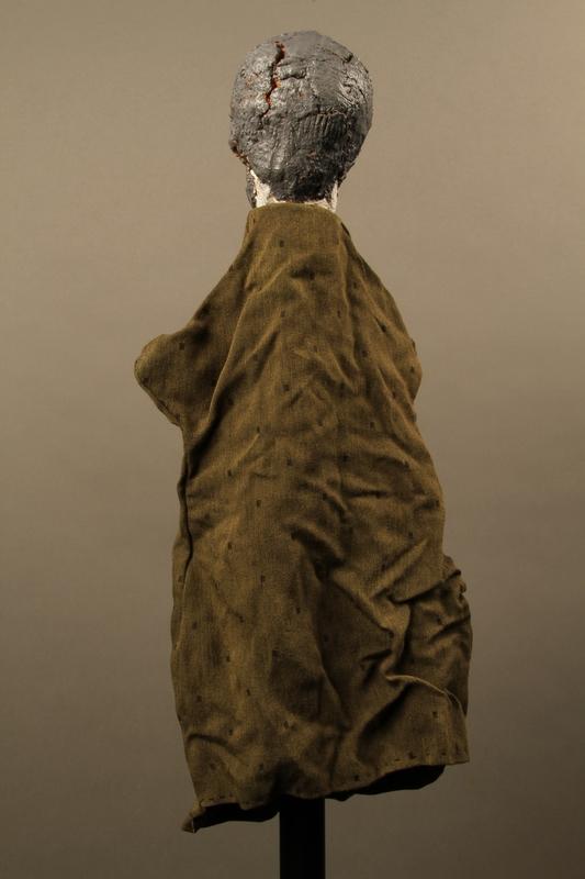 2017.213.10 back Bearded man hand puppet created by a German Jewish Holocaust survivor and World War II veteran