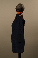 2017.213.9 back Orange and blue hand puppet created by a German Jewish Holocaust survivor and World War II Veteran  Click to enlarge