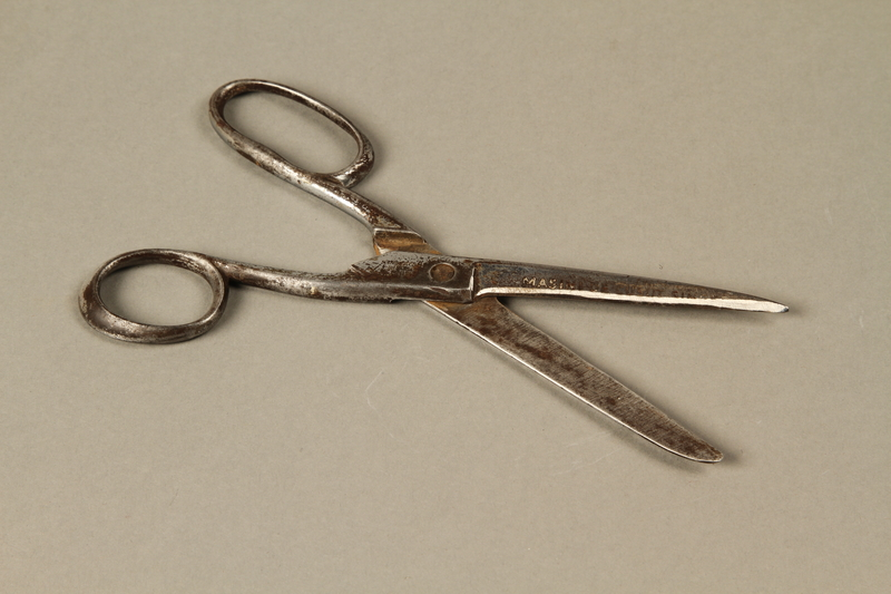 2017.218.2 open Singer sewing scissors used by Jewish Romanian woman who was killed during a massacre