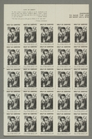 2017.227.46 left side Sheet of US poster stamps encouraging people to donate to a humanitarian organization  Click to enlarge