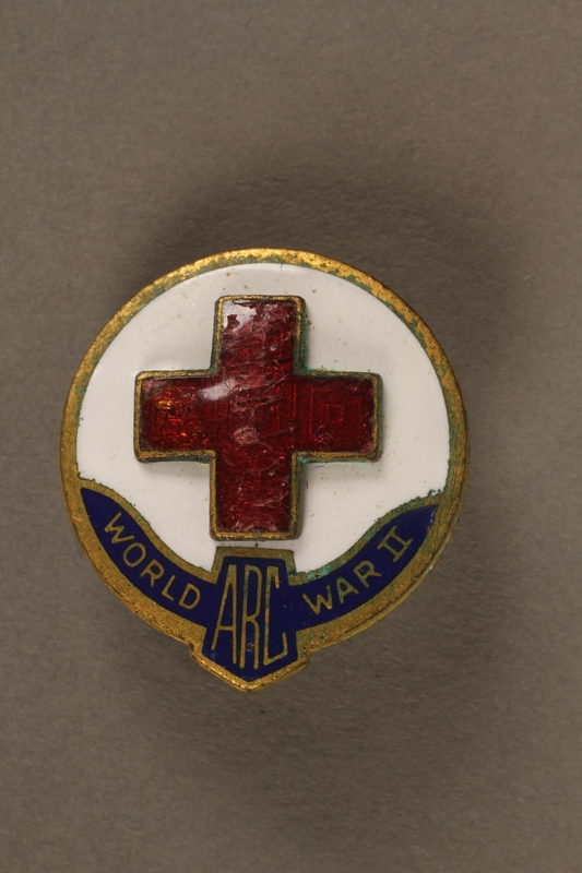 2017.242.2 front American Red Cross pin