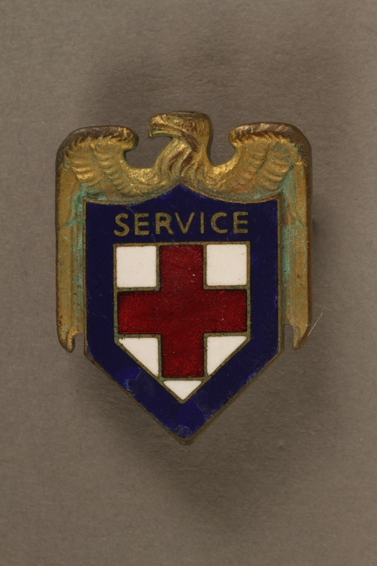 2017.242.4 front American Red Cross pin
