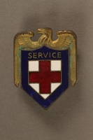 2017.242.4 front American Red Cross pin  Click to enlarge