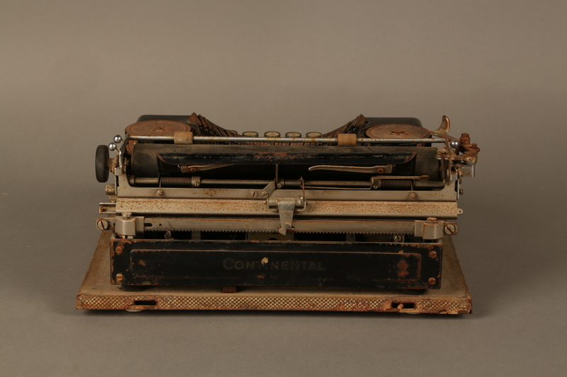 2017.296.2 back Hebrew typewriter used in a DP camp