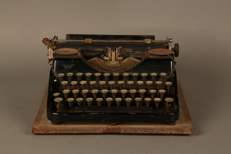 2017.296.2 front Hebrew typewriter used in a DP camp