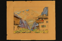 2017.257.3 a front Watercolor of the Bavarian Alps  Click to enlarge