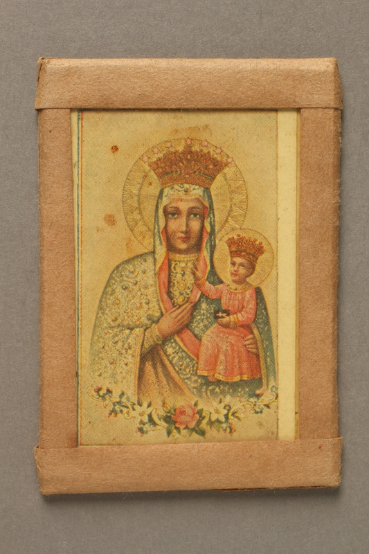 2017.279.3 front Picture of Virgin Mary given to a Jewish girl in hiding