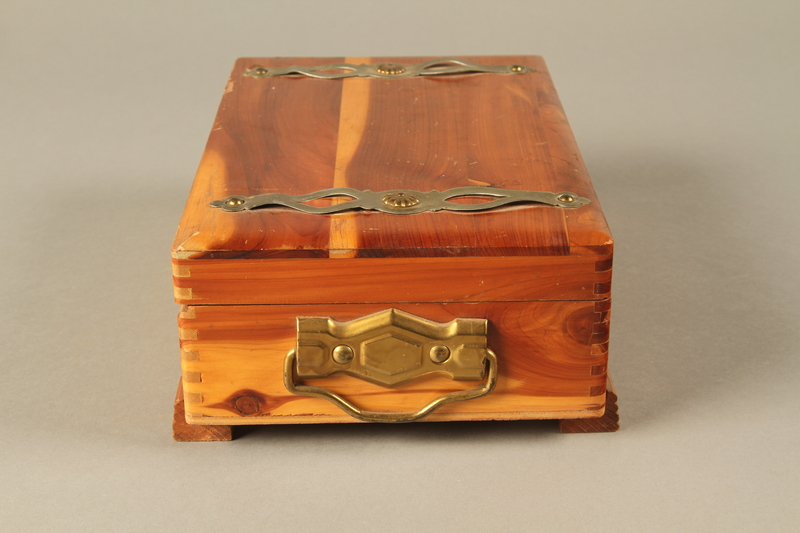 2017.311.5 a-c right Jewelry box with lock and keys