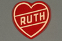 Red felt heart with name Ruth