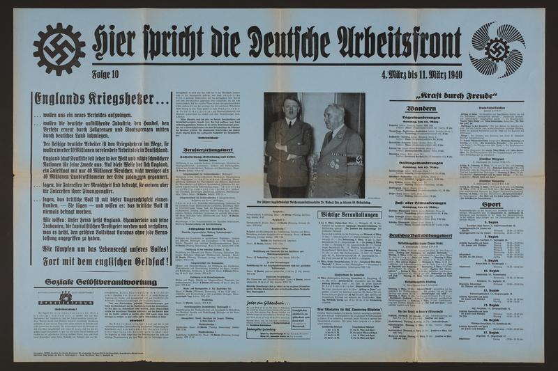 2015.562.24 front Hier spricht die Deutsche Arbeitsfront