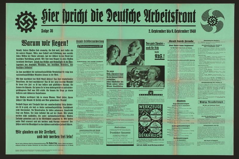 2015.562.26 front Hier spricht die Deutsche Arbeitsfront