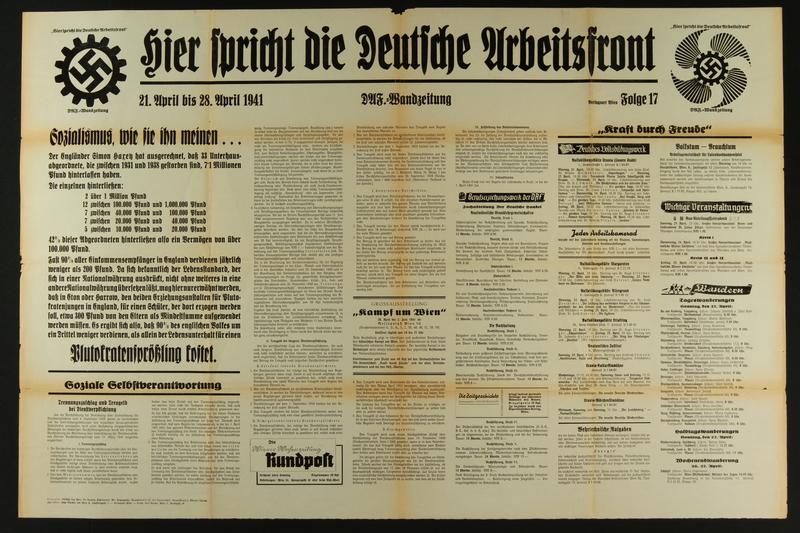 2015.562.31 front Hier spricht die Deutsche Arbeitsfront