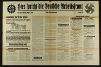 2015.562.31 front Hier spricht die Deutsche Arbeitsfront  Click to enlarge