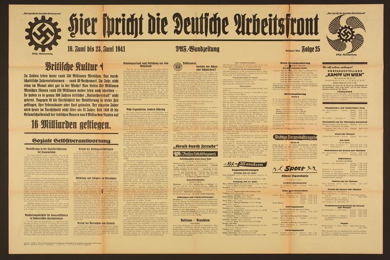 2015.562.32 front Hier spricht die Deutsche Arbeitsfront