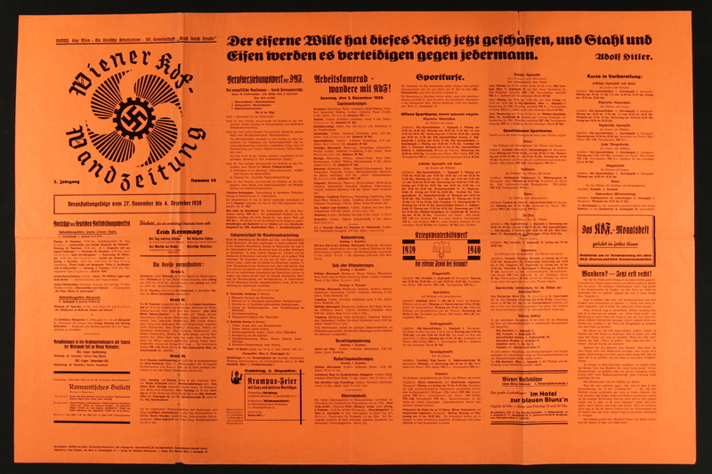 2015.562.35 front Kraft durch Freude German Labour Front Poster