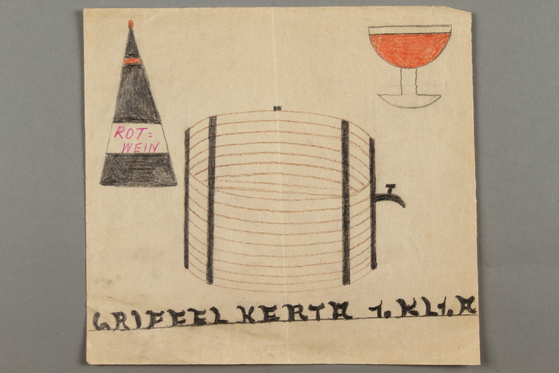 2016.526.12 front Drawing created by a Jewish Austrian child