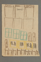 2016.527.8 front Drawing of windows and doors created by a Jewish Austrian child  Click to enlarge
