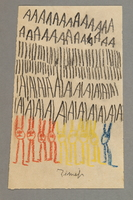 """2016.527.9 front Drawing of animals and examples of the letter """"A"""" created by a Jewish Austrian child  Click to enlarge"""