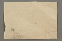 2016.527.11 back Double-sided drawing of people, a house and a cat created by a Jewish Austrian child  Click to enlarge