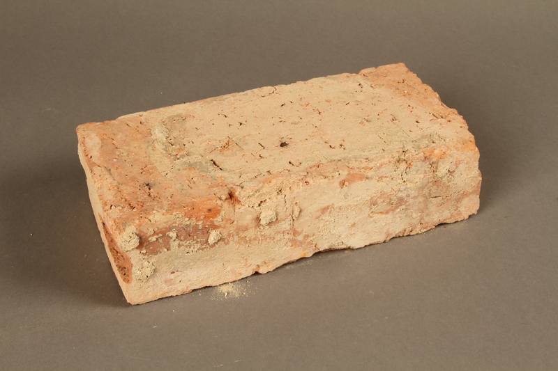 2017.359.3 3/4 view front Brick from a factory in Kőszeg, Hungary
