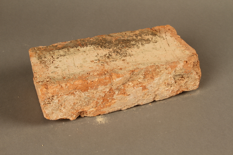 2017.359.5 3/4 view front Brick from a factory in Kőszeg, Hungary