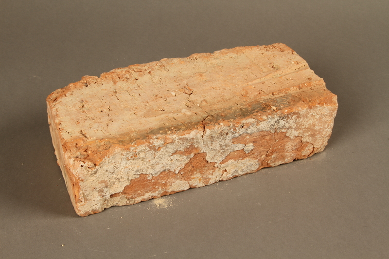 2017.359.6 3/4 view front Brick from a factory in Kőszeg, Hungary