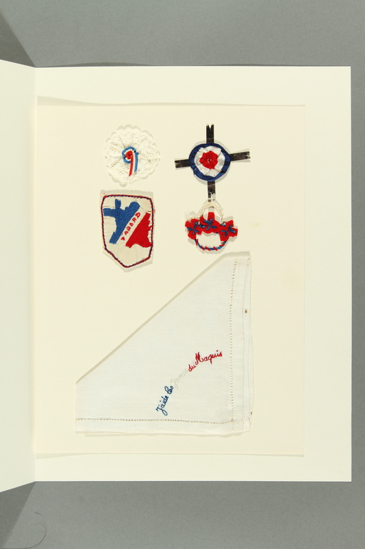 2017.362.9.2 front Portfolio of French Resistance mementos given to former Vice President Henry A. Wallace by female French partisans