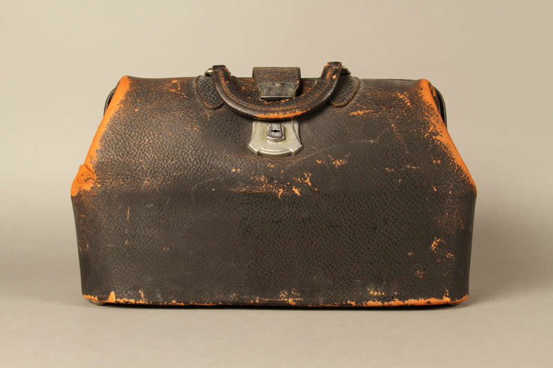 2017.541.3 front Medical bag used by an Austrian Jewish physician