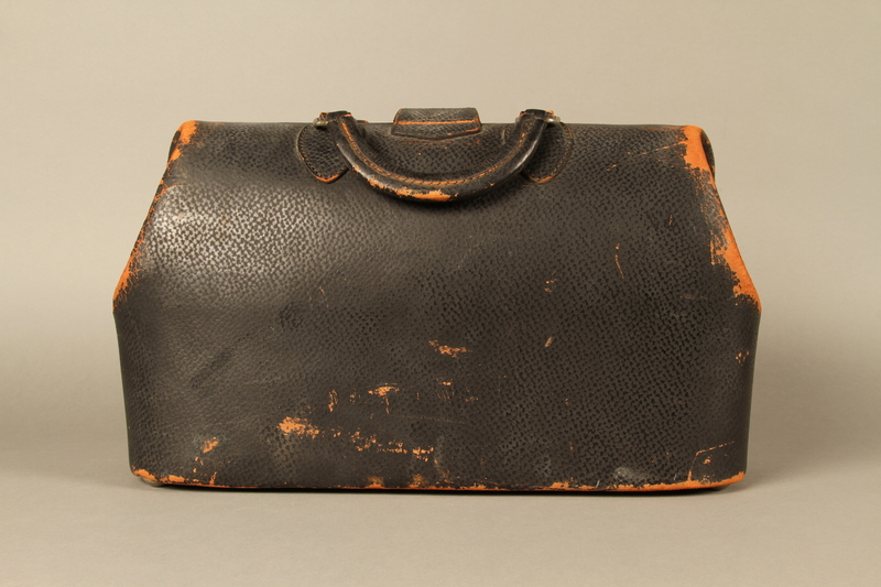 2017.541.3 back Medical bag used by an Austrian Jewish physician